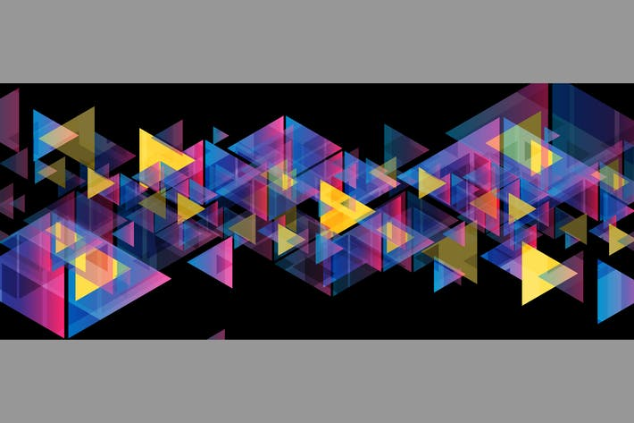 Thumbnail for Colorful neon triangles tech abstract background
