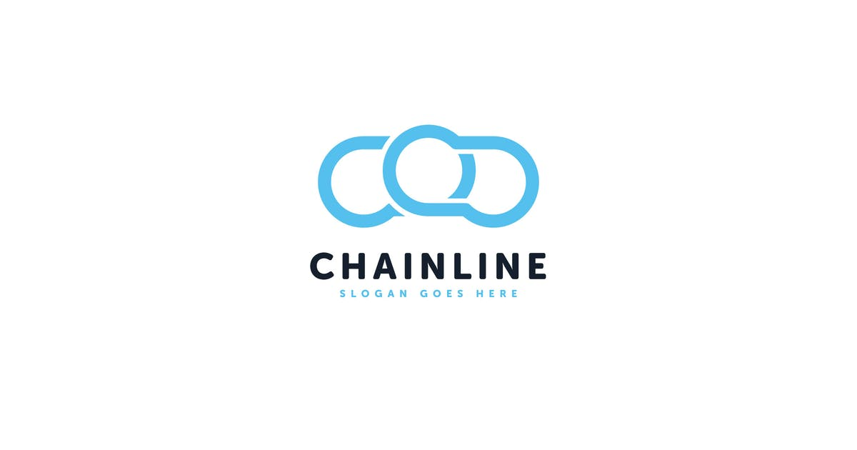 Download Chain Line Logo Vector Template by Pixasquare