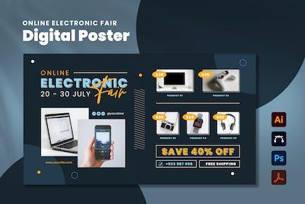 Online Electronic Fair Digital Poster