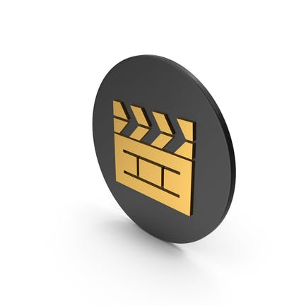 Cinema Movie Gold Icon