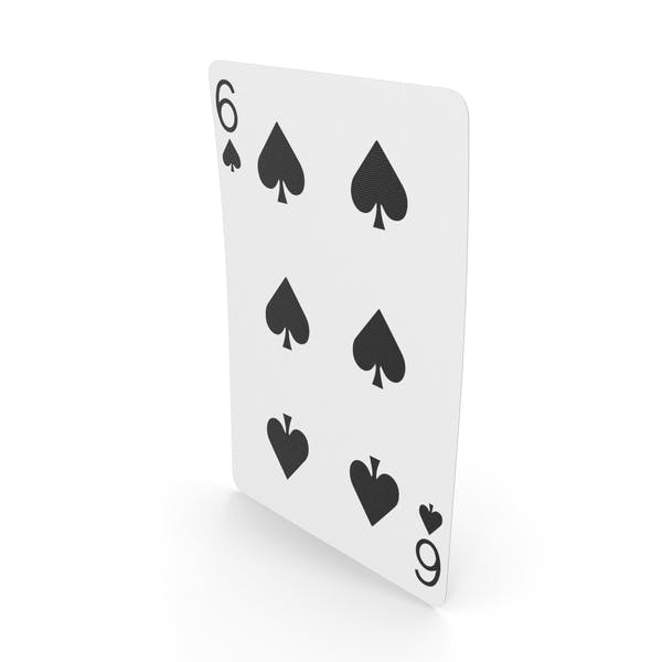 Playing Cards 6 of Spades