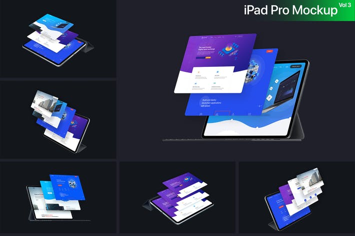 Thumbnail for iPad Pro 2018 Mockup Vol-3