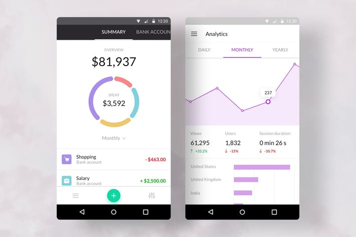 Thumbnail for Charts Templates Android