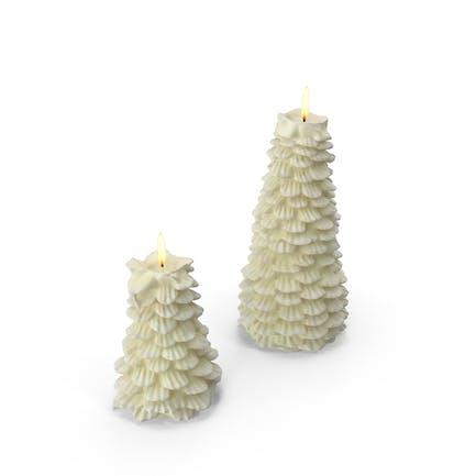 Baumförmige Kerzen