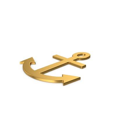 Gold Symbol Anchor