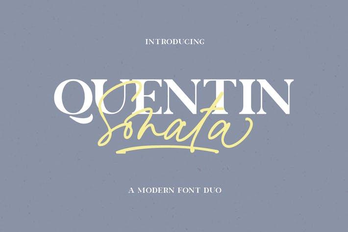Quentin Sonata - Font Duo