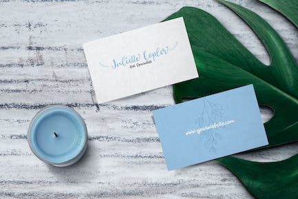 Girly Ornament Business Card Template