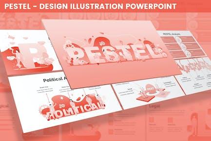 PESTAL - Ilustración de diseño para Powerpoint