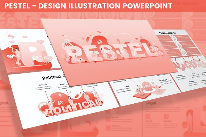 Thumbnail for PESTEL - Design Illustration for Powerpoint