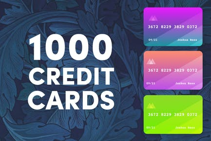 1000 Colored Credit Cards