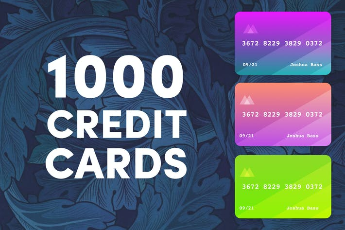 Thumbnail for 1000 Colored Credit Cards