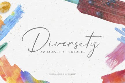 62 Diversity Watercolor Textures