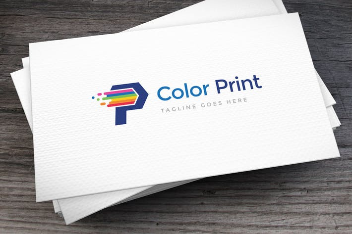 Thumbnail for Color Print Letter P Logo Template
