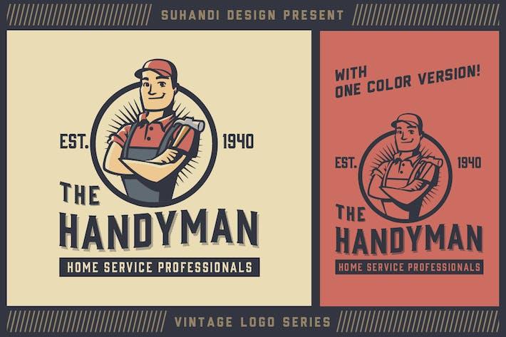 Thumbnail for Vintage Handyman Mascot Logo - Vintage Logo Series