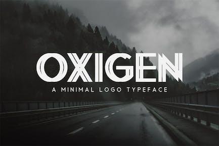 Oxigen   A Minimal Logo Typeface