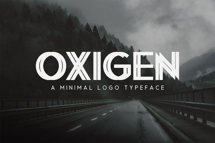 Thumbnail for Oxigen | A Minimalista Logo Tipo de letra