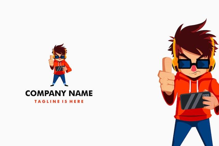 Thumbnail for Gamer Thumb Up Mascot Character Logo