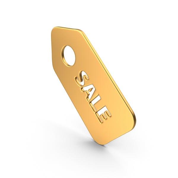 Sale Sticker Symbol Gold