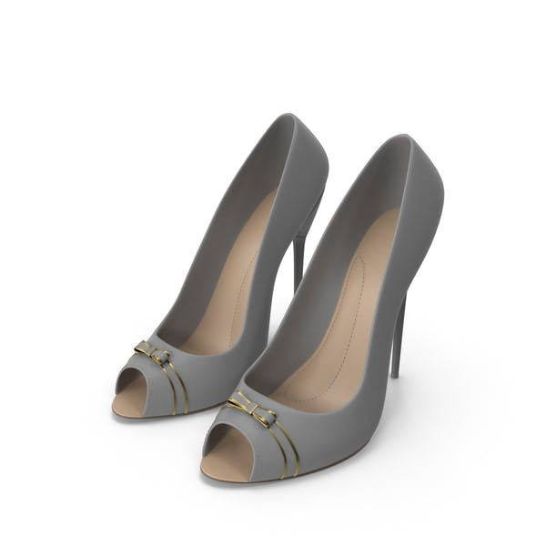 High Heels Women's Shoes Grey