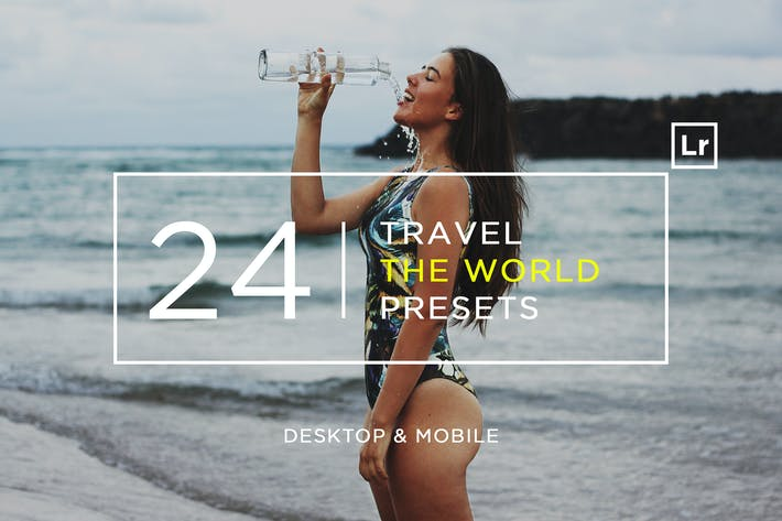 Thumbnail for 24 Travel The World Lightroom Presets + Mobile