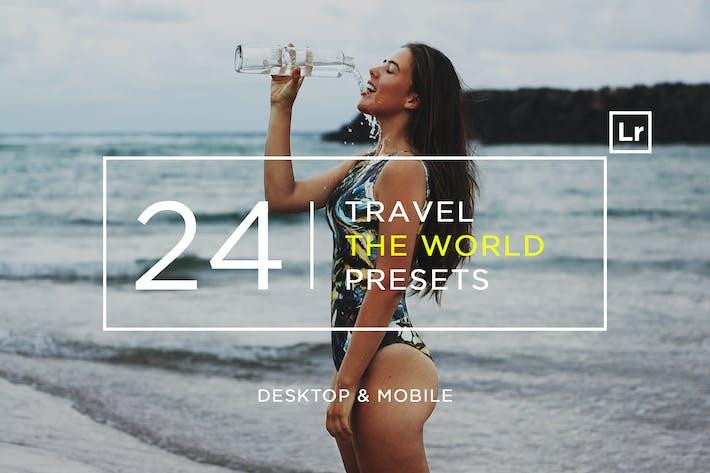 Thumbnail for 24 Travel The World Пресеты Lightroom + Мобильный