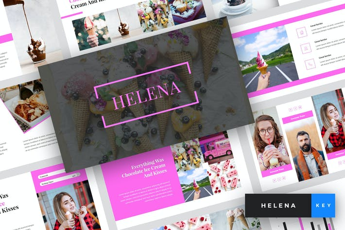 Thumbnail for Helena - Ice Cream Keynote Template