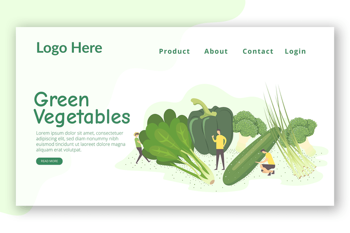 Thumbnail for Healthy Vegans - Landing Page