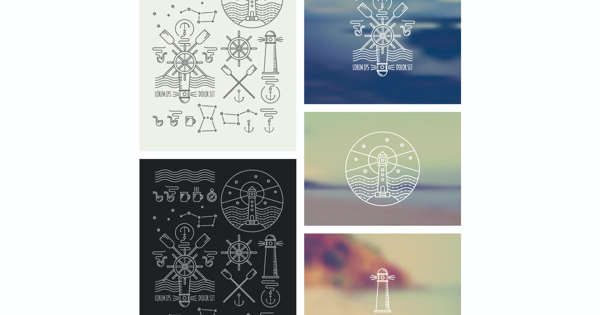 Download Set of icons on a theme of the sea by fet