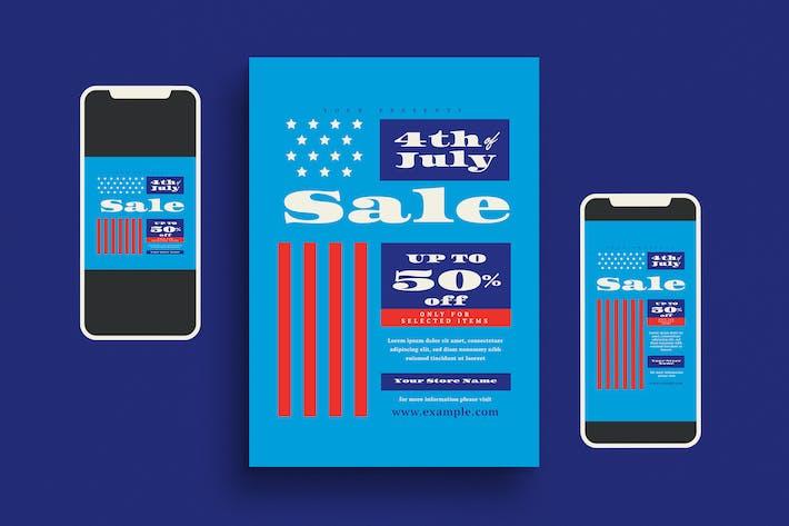 4th of July Sale Flyer Set