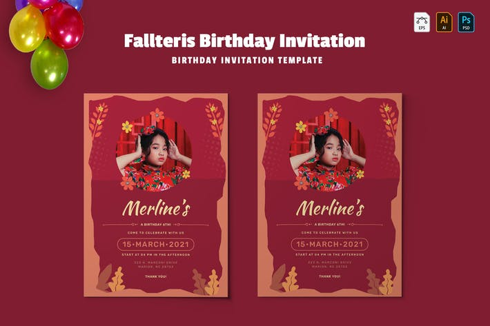 Thumbnail for Fallteris | Birthday Invitation