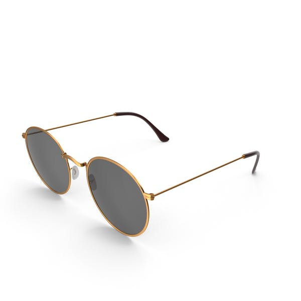 Gold Sonnenbrille