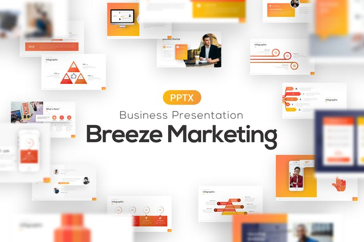 Thumbnail for Breeze Marketing Powerpoint Presentation Template