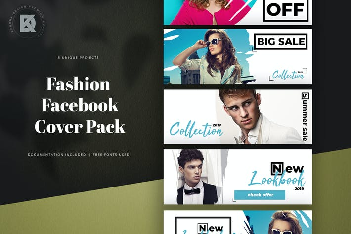 Thumbnail for Fashion Facebook Cover Kit
