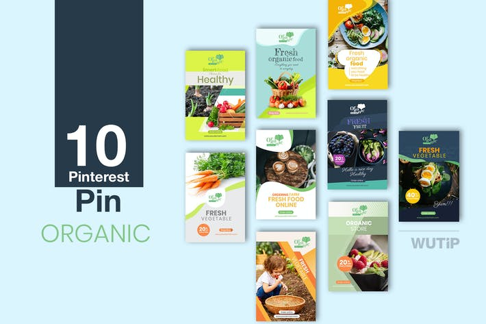 Thumbnail for 10 Pinterest Pin Banner - Organic
