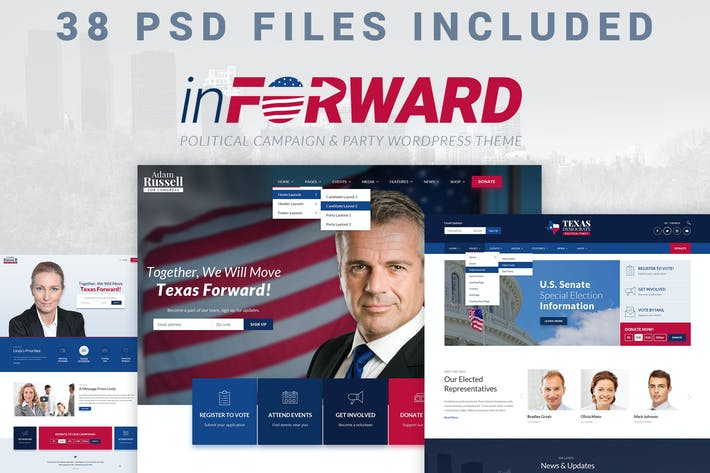 Thumbnail for inForward - PSD Template