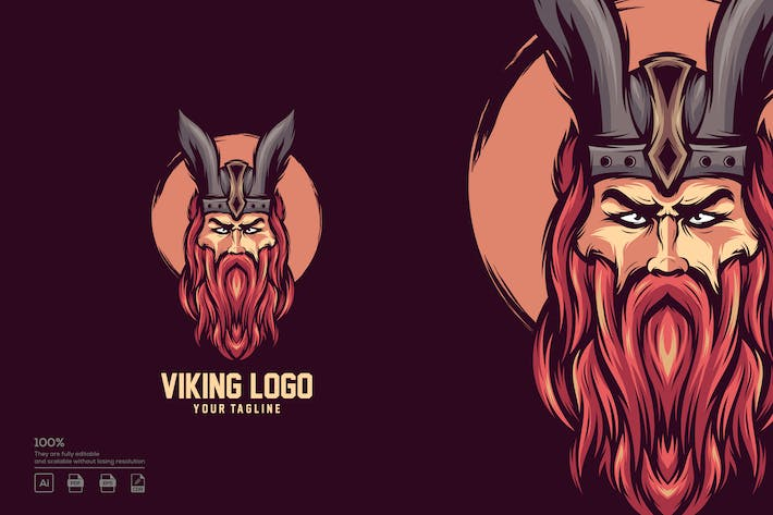 Thumbnail for Viking logo design