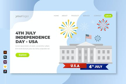 4th July Independence Day USA - Landing Page