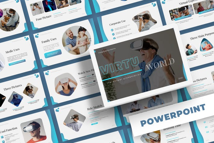 Thumbnail for Virtu World - Powerpoint Template