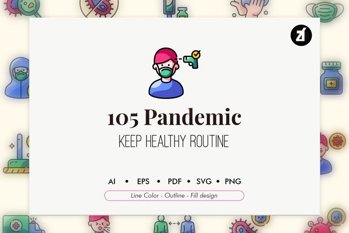 Thumbnail for 105 Pandemie-Icon-Pack