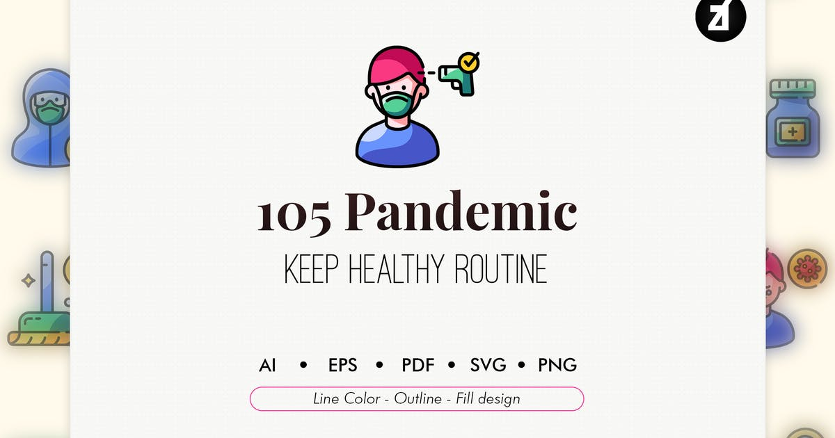 Download 105 Pandemic icon pack by Chanut_industries