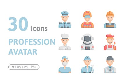 30 Profession Avatar Icons