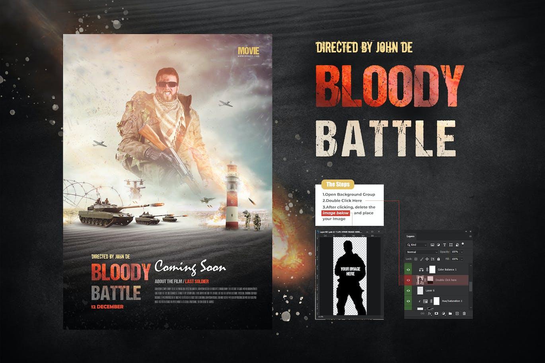 Bloody-Battle-Movie-Poster/Flyer