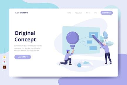 Original Concept - Landing Page