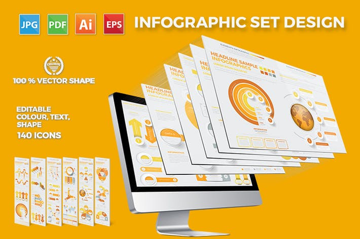 Cover Image For Yellow Infographics Template
