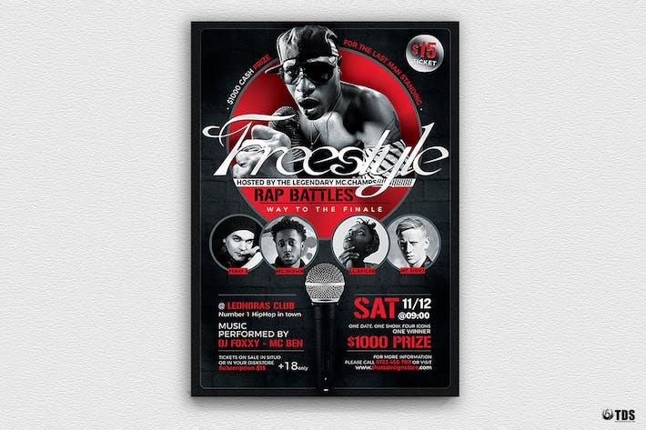freestyle rap battle flyer template v7 by lou606 on envato elements