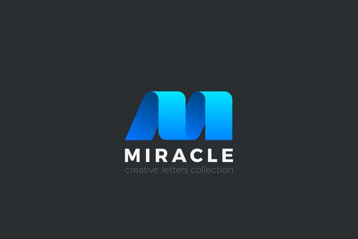 Thumbnail for Logo Lettre M style ruban