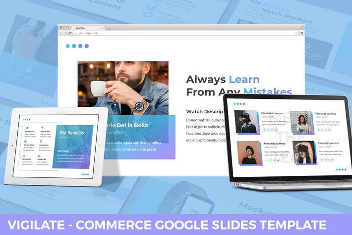Thumbnail for Vigilate - Commerce Google Slides Template