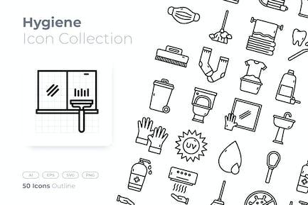 Icono de esquema de higiene