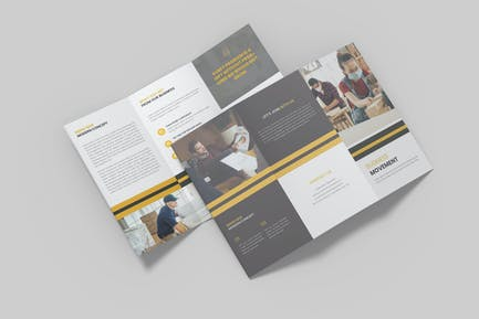 Business Movement Trifold Brochure