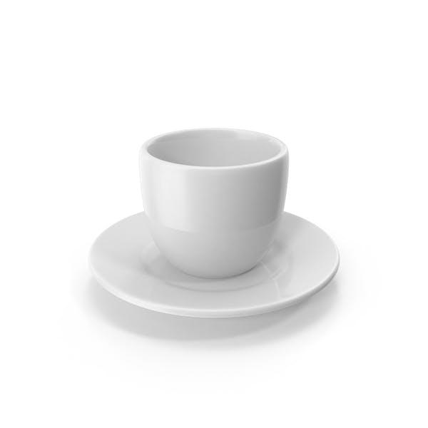 Cartoon Cup on Saucer